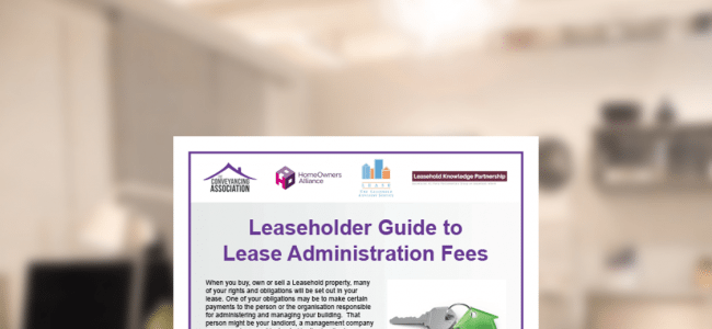 Conveyancing Association - guide to leasehold fees