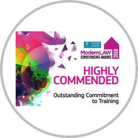 Modern Law Conveyancing Awards 2018 Outstanding Commitment to Training