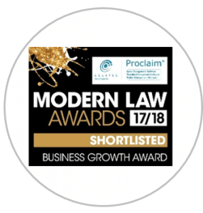 Modern lawards 2017 Business Growth Shortlisted