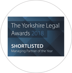 Yorkshire Legal Awards 2018 Managing Partner of the Year Shortlisted